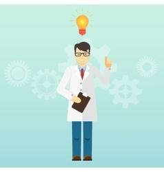 Young scientist professor got an idea Startup vector image vector image