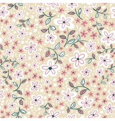 Abstract cute seamless floral pattern vector