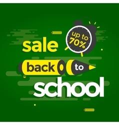 Sale banner back to school vector image