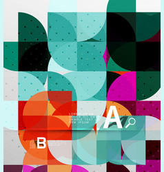 minimalistic circle geometric abstract background vector image