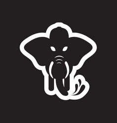 style black and white icon elephant firefighter vector image