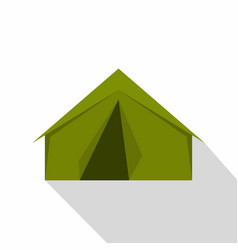 Tourist or a military tent icon flat style vector