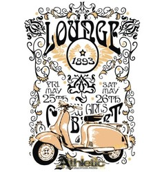 Classic vintage motorcycle vector
