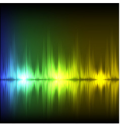 Abstract equalizer background blue-green-yellow vector