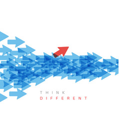 Think different concept vector