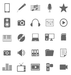 Media icons on white background vector