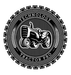 tractor logo  emblem design vector image
