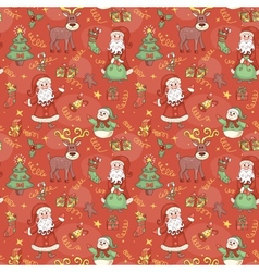 Red holiday seamless pattern vector