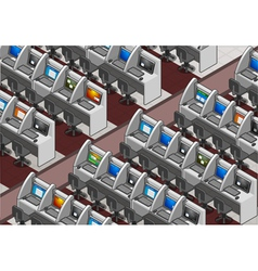 Isometric call center office vector