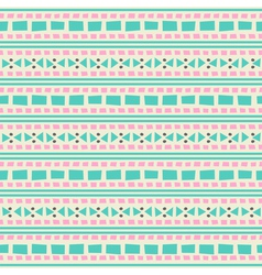 Seamless aztec pattern in blue and pink vector