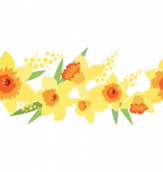 daffodil pattern vector image