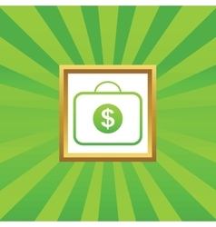 Dollar bag picture icon vector