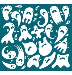 Funny ghosts Set vector image