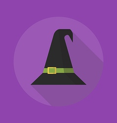 Halloween flat icon witch hat vector