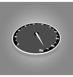 Speedometer on gradient background vector