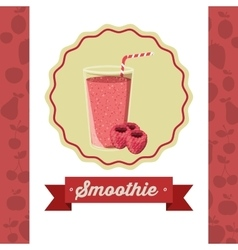 Fruit smoothie design vector