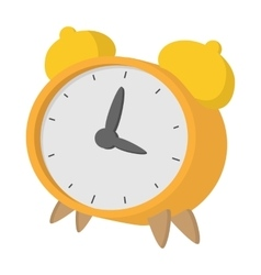 Yellow alarm clock icon cartoon style vector