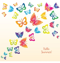 Butterflies for Fashion and Postcard vector image