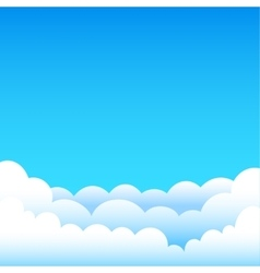 Cartoon blue sky vector