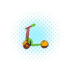 Kick scooter icon comics style vector