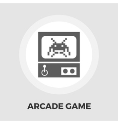 Retro arcade machine flat icon vector