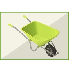 Hand-barrow isometric flat 3d vector
