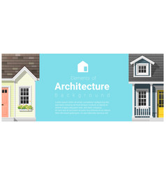 architecture background with a small houses vector image vector image