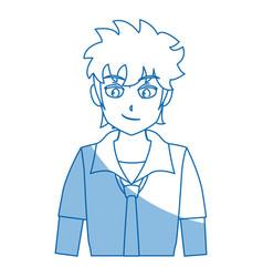 Boy teenager anime comic image vector