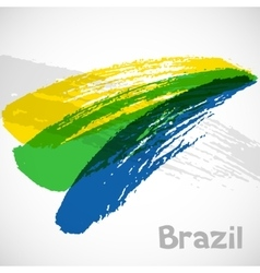 Brazil abstract background with grunge paint vector