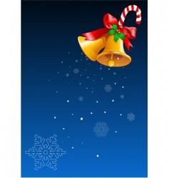 Christmas bells design vector image vector image