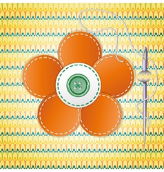 Colorful scrapbook with flower vector image vector image