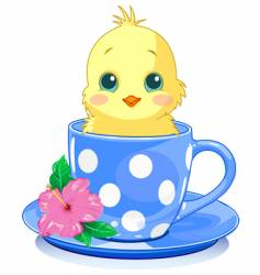 cup chick vector image vector image