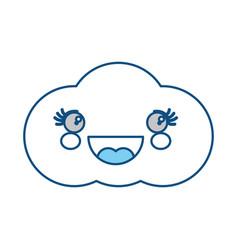 Cute cloud kawaii cartoon vector