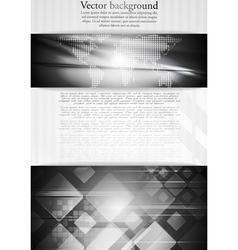 Dark tech business design vector image vector image