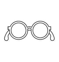 Grandparents eye glasses icon vector