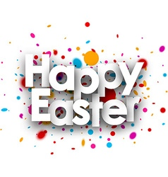 Happy easter paper background vector