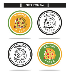 Italiano pizza emblem vector