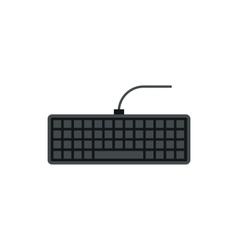 Keyboard icon flat style vector image