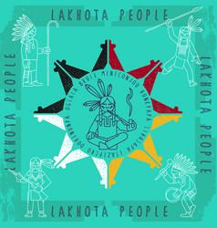 lakota-print-02 vector image vector image