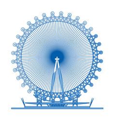London eye symbol vector