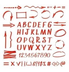 Marker hand written symbols pen line vector