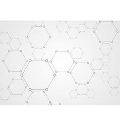 Molecular grey structure abstract tech background vector