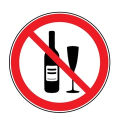 No alcohol drinks sign vector image vector image