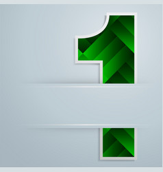 Number one design background vector