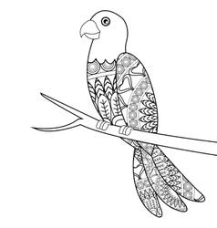 parrot mandala icon vector image vector image