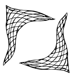 Plaid checkered check neckerchief ink vector