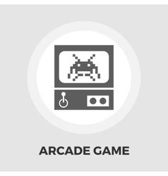 Retro arcade machine flat icon vector