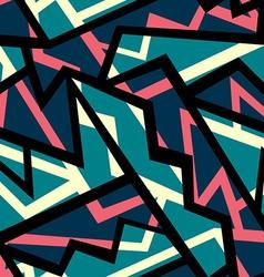 Retro blue geometric seamless pattern vector
