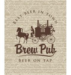 Retro brewery vector