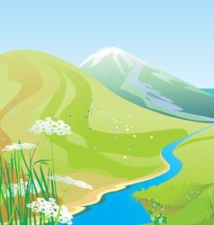 River hills vector